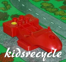 Lego DUPLO Toolo ACTION WHEELER Part MOTORCYCLE / RACER BODY Small RED (31381)