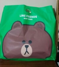 """LINE FRIENDS Brown Cony Big Shopping Bag 21x21"""" width 5"""" OFFICIAL New York Store"""
