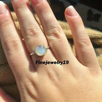 Moonstone Ring 925 Sterling Silver Band Ring Handmade Ring Statement Jewelry E05