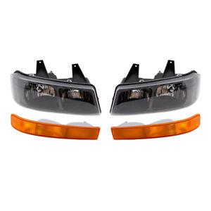 Headlight Assemblies & Park/Signal/Side Marker Lights 4 Pc Set for 03-20 Express