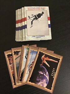 Lot of 44: 1991 Impel U.S. Olympic Cards Hall of Fame + 5 1992 Atlanta Cards