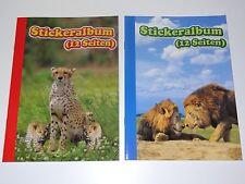 2 x A5 Stickeralbum Stickerheft für Sticker Album Aufkleber Leer Wild Tiere Löwe