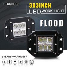 2x  Cube LED Work Light Pods Flood Flush Mount Off-Road Driving Fog Lights Lamps