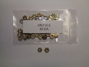 AIRCRAFT CASTLE NUTS AN310-3 SET OF 50 EACH NEW