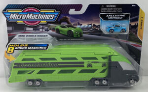 Micro Machines Mini Vehicle Hauler + Exclusive Vehicle Series 1 Hasbro NEW (K1)