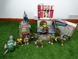Teenage mutant ninja turtles Bundle 7 Figures Van & Pop Up Pizza Playset