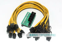 New Breakout Board + 10pcs Cable for HP 1200w/750w Power Module Mining Ethereum
