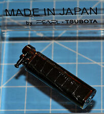 Tsubota Pearl XL BOLBO Crocodile Leather Flint Lighter Seki City Japan Old Boy ☦