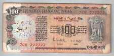 11-00440 # INDIA | SOLID FANCY NO. 777777, 100 RUPEES, 1976, R.N.MALHOTRA, F