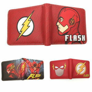 New The Flash Bifold Wallet The Joker Coin Purse - Anime Mario Death Note Wallet