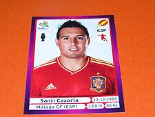 300 SANTI CAZORLA MALAGA ESPAGNE ESPAÑA  FOOTBALL PANINI UEFA EURO 2012