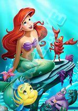 A3 Disney Princess Ariel Satin Poster Wall Art