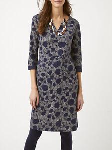 EX WHITE STUFF Navy  Printed Polly Pocket Dress Sizes 8 10 12 14 16 18 RRP £55