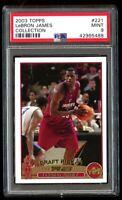 2003-04 Topps Collection Lebron James Rookie PSA 9 Mint RC Gold Foil #221