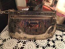 Authentic-Michael-Kors-Small-Clutch Wristlet-Flat-Bag--Gold
