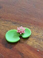 Playmobil piece nénuphar vert fleur rose maison