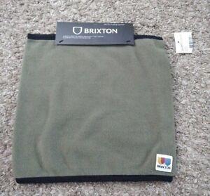 NWT BRIXTON Men Arctic Fleece Gaiter OS Army Green
