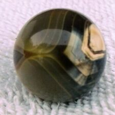 """3/4"""" Shooter Cornelian Banded Agate Beautiful Marble Hand Grown Mint..."""