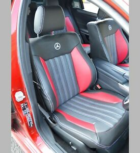 Mercedes E Class W212 AMG Tailored Leather Look Quilted Car Seat Covers