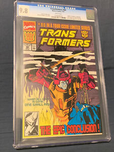 Transformers #80 CGC 9.8 NM/M 1991 Final Issue White Pages