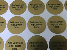 PERSONALISED ROUND LABELS - SIZE 90mm DIAMETER - PROFESSIONALLY PRINTED