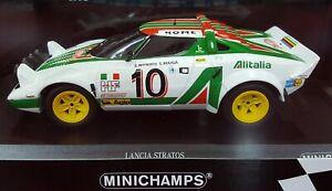 1:18 MINICHAMPS - LANCIA STRATOS - WINNER 1976 MONTE CARLO RALLY