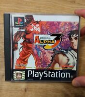 Street Fighter Alpha 3 PS1 Game Black Label MISSING MANUAL - Free P&P