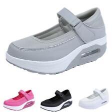 New Women Round Toe Mary Janes Creepers Heel Hook&Lopp Pumps Nurse Shoes 35/42 D