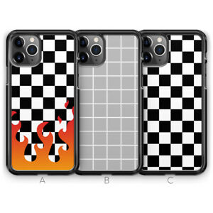 Check Checkered Fire Flame Phone Case for iPhone 13 Pro Max 12 Mini 11 XR X 8