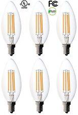 6-pack Bioluz LED™ Filament Candelabra Clear LED Bulbs, E12 Base, C37 High Ef...
