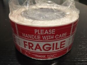 """500-Sticker 2x3"""" ***Please Handle With Care--FRAGILE***"""