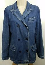 Democracy Washed Blue Denim Pockets Classic Cotton Jacket Size 4 1114