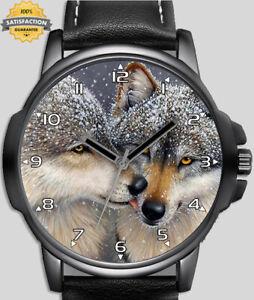 Wolf Pair Love Unique Wrist Watch FAST UK