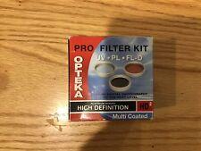 Opteka Pro Filter Kit 3PCS Multi Coated, UV PL FL-D 55 MM