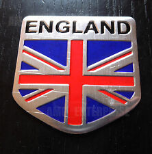 Chrome Style Union Jack England Flag Badge for Toyota Yaris Verso Rav4 MR2 HiLux
