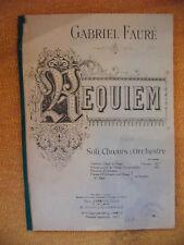 Partition Requiem Gabriel Fauré Soli Choeurs & Orchestre 1927