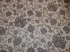 """Upholstery Fabric Woven Chenille Jacquard Floral Cream 10 yards x 58"""""""