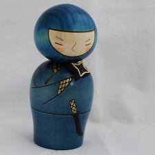 Japanese Kokeshi Doll - Authentic - Handmade in Japan - Ninja