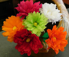Mexican Crepe Paper flowers Multicolor Bouquet of 6 / Crafts/ Party