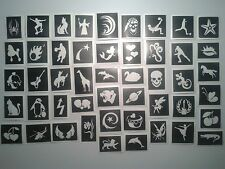 100 tattoo stencils for glitter tattoos / body art girls boy airbrush inc Frozen