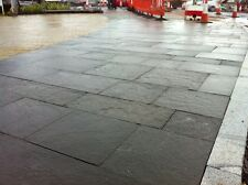 Welsh blue pennant stone sawn flamed paving flagstone slabs pavers