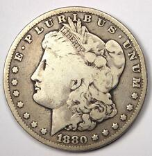 1880-CC Morgan Silver Dollar $1 - VG Details - Rare Carson City Coin!