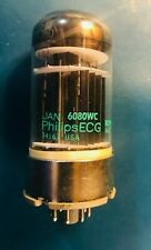 TESTED NOS NIB PHILIPS ECG JAN 6080WC MATCHED Gm TRIODES DATE & MFG CODES
