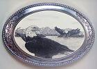 Belt Buckle Barlow Scrimshaw Carved Painted Art Eagle Western Style 592144