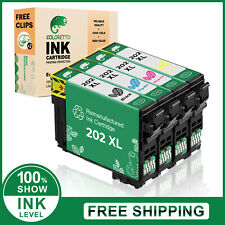 Remanufactured 202XL High Yield Printer Ink Set of 4 for XP-5100 & WF-2860