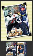 1996-97 Post Cereal NHL Promo Mini Poster & Card,  Edm Oilers' Curtis Joseph