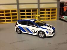 1/64 2012 Ford Focus ST #12 SCCA Rally Racer in White/Blue -Gray Graphics