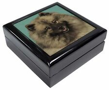 More details for keeshond dog keepsake/jewellery box christmas gift, ad-kee1jb