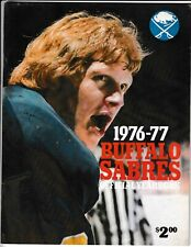 1976-77 Buffalo Sabres Official Hockey Yearbook