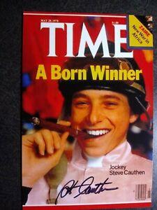 STEVE CAUTHEN Hand Signed Autograph 4X6 Photo - TRIPLE CROWN HORSE JOCKEY